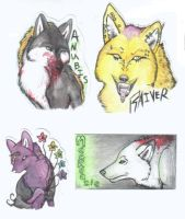 Badges- Ang,Raiv,Mackenzie,Anu by JustRach