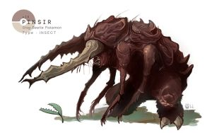 PINSIR by MrRedButcher