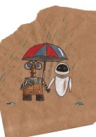 Wall-e and Eve by jellysocks