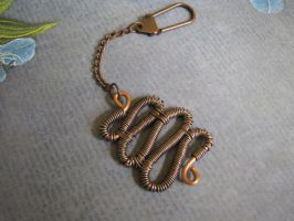 Steampunk Copper Keychain by bcainspirations