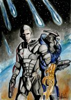 ME3- Shepard And Garrus by JiPoJiP