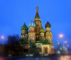 Night Moscow by danielel013