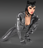 Catwoman pose by ZayrCroft
