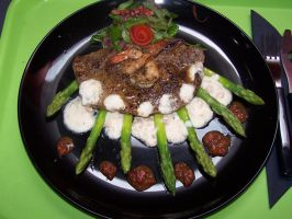 Green speared beef by ANDROXA