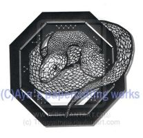 Snake papercutting by Thessatoria