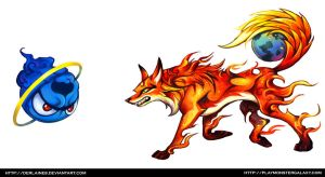 Firefox vs Internet Explorer by Derlaine8