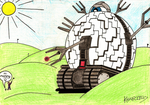 Golfballs are Technodrome babies by Kharotus