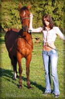Sammy and her horses 2 by M-Coleman