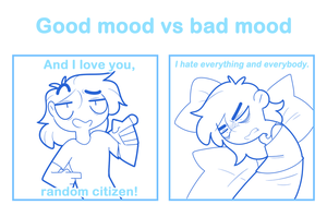 Good mood VS Bad mood by SmokyJack