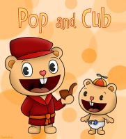 Happy Tree Friends: Pop and Cub by SuperLakitu