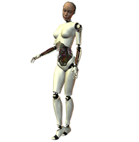 She-Bot : White 005 by Selficide-Stock