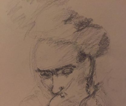 Frida Kahlo, pencil sketch by PaintedLiLy