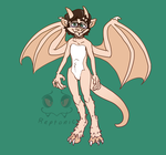 Updated Design - Self Dragon fursona by Reptonic