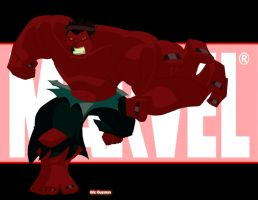 Red Hulk Smash by EricGuzman