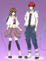Design Couple Outfits for Chi and Omo by dana123girl