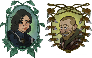 Commission: Anvyl and Hammir by GalooGameLady