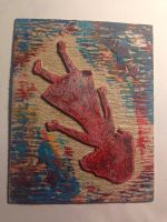 Falling Girl Collagraph by Se34r5