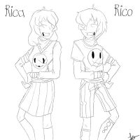 Color Me Creepy: Rico and Rica by psycho23