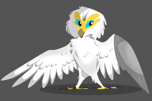 Egyptian Vulture by ToxicKittyCat