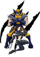 Wolverine and X-23 by Mbembe
