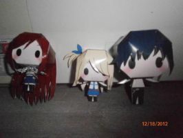 Erza, Lucy and Gray (chibi) by benneth0820