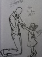 Here you go Mr.Slenderman~!! by AbominalSnowDemon