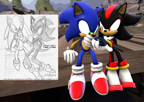 SONADOW: Sonic and Shadow [SFM REMAKE] by SonicRemix