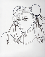 Chun-Li Line Art by Mayleth