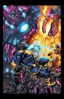 Galactus vs thanos colors by spidey0318