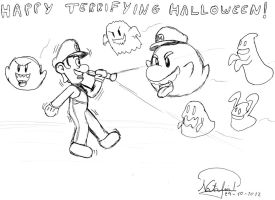 Happy Terrifying Halloween! by Dino-drawer