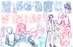 Hunger Games: 'Extras' sketch dump by fortykoubuns