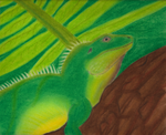 Chinese Water Dragon - Soft Pastels by Blayzefyre