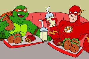 TMNT: Mikey and The Flash by xero87