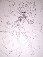 Dark Phoenix con sketch 2 by RandyGreen