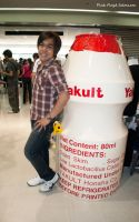 Me with Yakult by Tenshi659