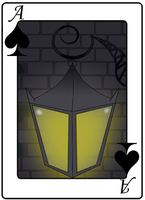 The Old Street Lamp Card by AlceX
