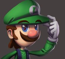 One face a day #17/365. Luigi by Dylean