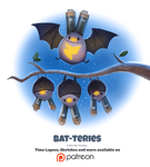 Day 1377. Bat-teries by Cryptid-Creations