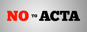 NO TO ACTA - facebook cover by erroid