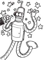 Dope-Ass Bender Sketch by Kisaki-Shattoriboshi