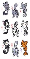 Kitty Adopts Batch 8 CLOSED by KalineReine