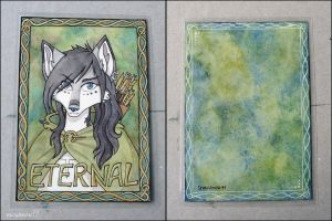 Eternal badge - two sides by SnowSnow11