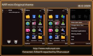 N97 Mini Original Brown theme by dhanusaud