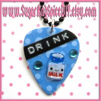 Drink Milk Pick Necklace by SugarAndSpiceDIY