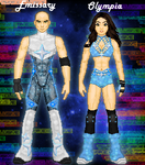 MyWWE: Emissary and Olympia by TerenceTheTerrible