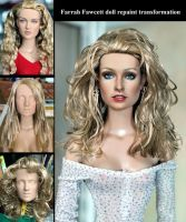 Farrah Fawcett doll - repaint transformation by noeling