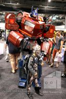 Optimus Prime and little Megatron at Supanova 2014 by Old-Trenchy