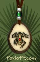 Frog Totem Tagua Pendant by Foxfeather248