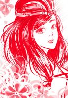 monochrome red by manga-drawing-luver