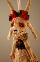 Antichrist skull bunny by Woodedwoods